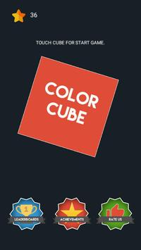 Color Cube - switch color poster