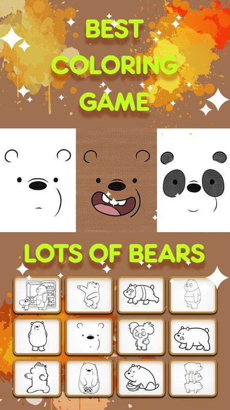 Coloring Pages For Kids We Bare Bears Edition Affiche