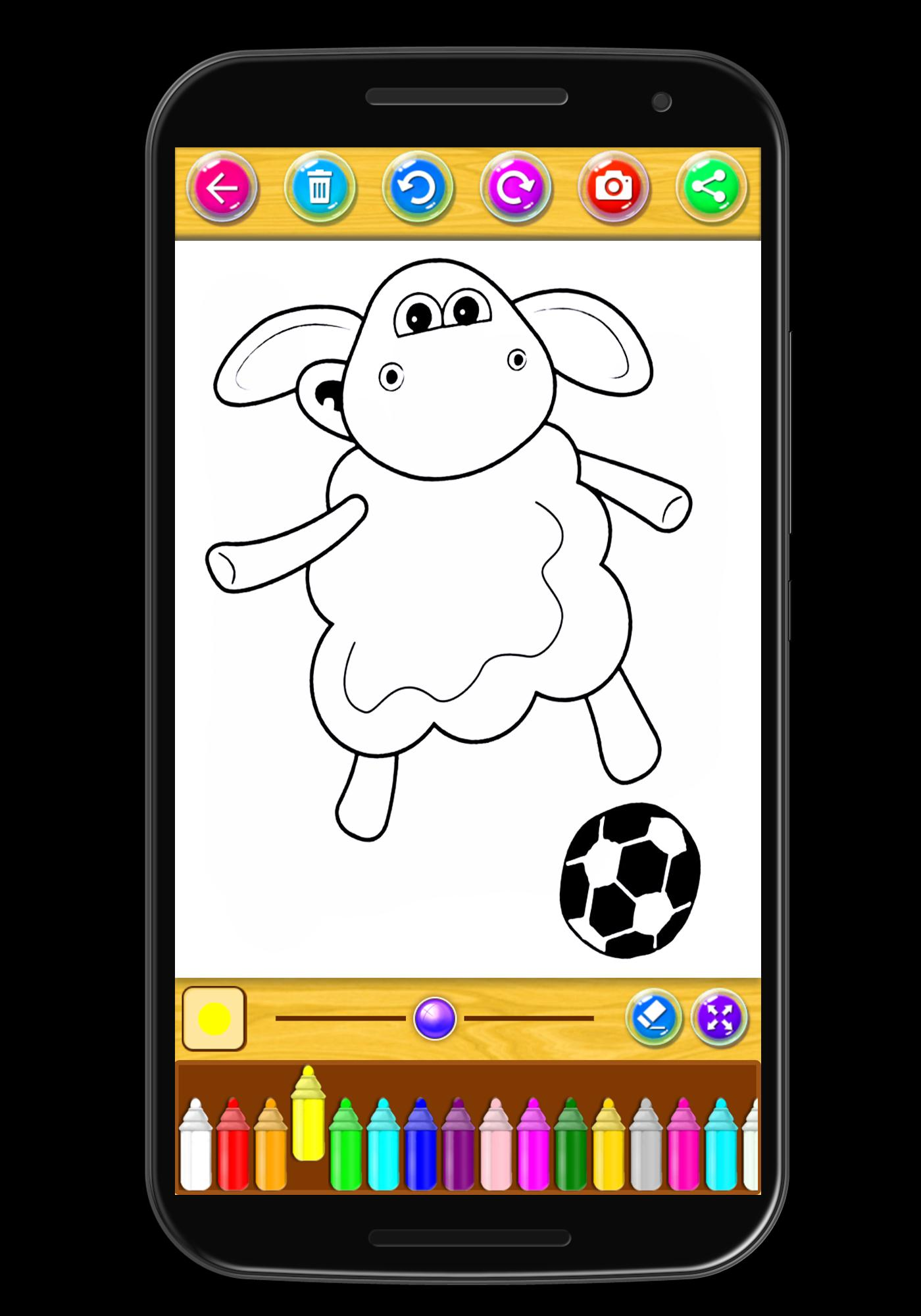 Coloring book Sheep poster