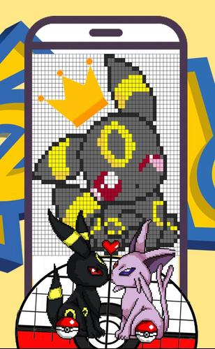 Color by Number Pokemon coloring