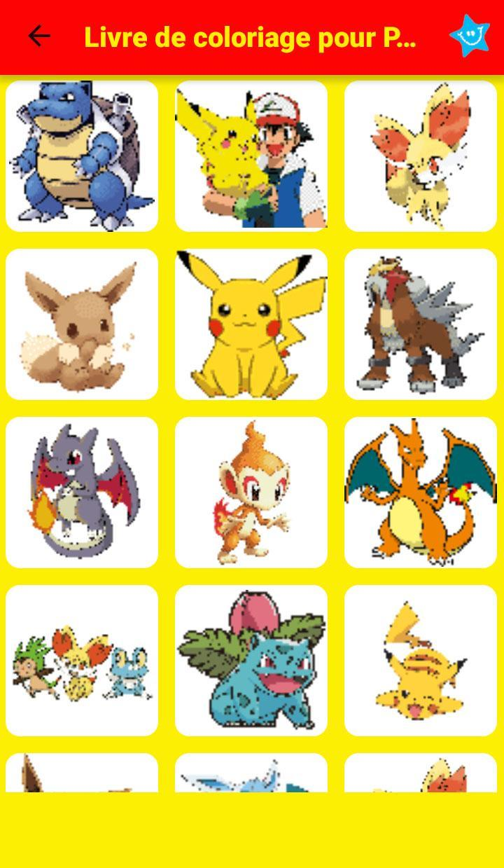 Color By Number Pokemon Pixel Art For Android Apk Download
