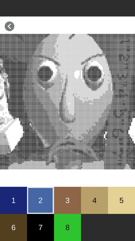 baldi 39 s coloring by number sandbox pixel art for android apk download. Black Bedroom Furniture Sets. Home Design Ideas