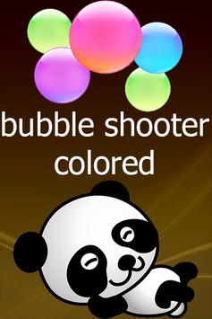 Bubble Shooter Colored poster