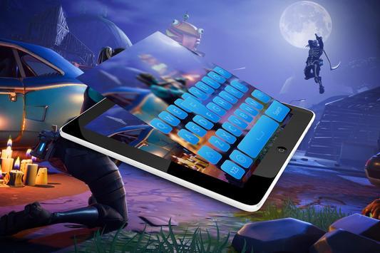 Fortnte Keyboard Battle Royale Theme poster