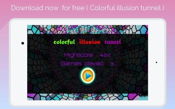 super 3D  colorful illusion tunnel скриншот 5