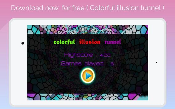 super 3D  colorful illusion tunnel screenshot 5