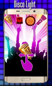 Disco light:Flashlight with Music led light poster