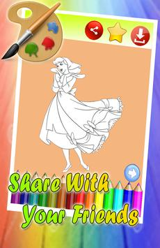 Coloring Book For Cinderella Story Poster Apk Screenshot