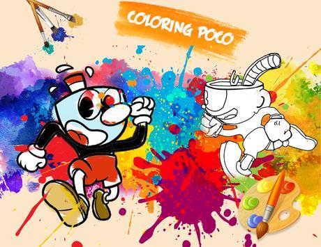 🎨 Cup Hero Coloring Page Game screenshot 1