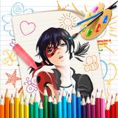 🎨 Coloring Miraculous Ladybug Page icon