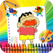 🎨 Coloring Shin Chann Page Game icon