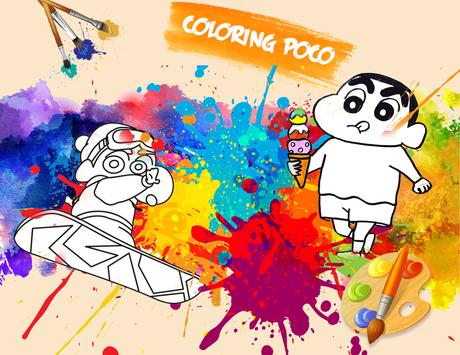 🎨 Coloring Shin Chann Page Game apk screenshot