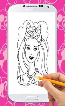 Coloring Book For Barbie poster