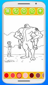 Ben 10 Coloring Pages Screenshot 2