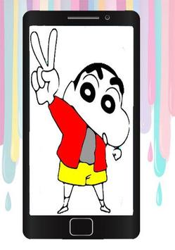 Coloring Book For Shin chan poster