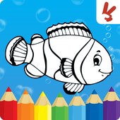 Coloring book Animals for kids icon