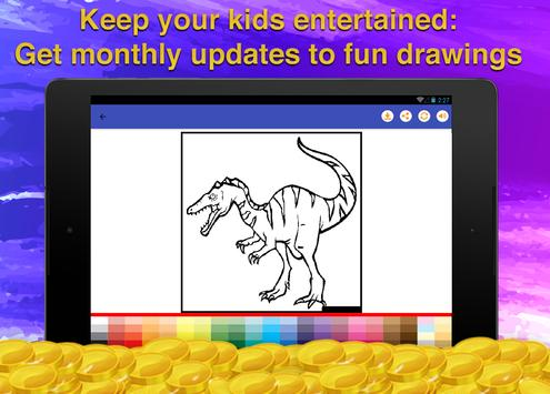 Dinosaur Kids Coloring Book screenshot 13