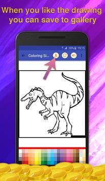 Dinosaur Kids Coloring Book screenshot 4