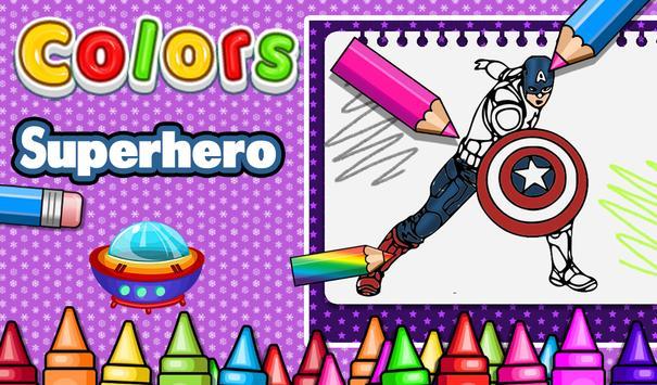 Superhero Coloring pages : Hero Coloring games APK Download - Free ...