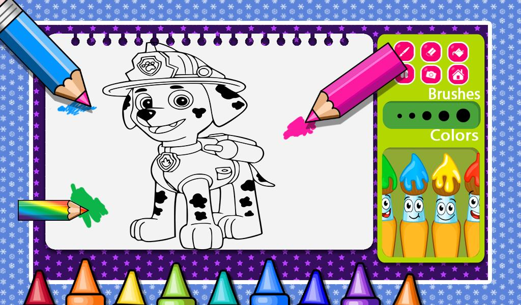 Paw Patrol Coloring Pages for Kids Coloring Games ▻ Paw Patrol ... | 601x1024