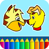 Cats & Dogs coloring game icon