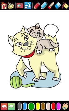 Cats & Dogs coloring game apk screenshot