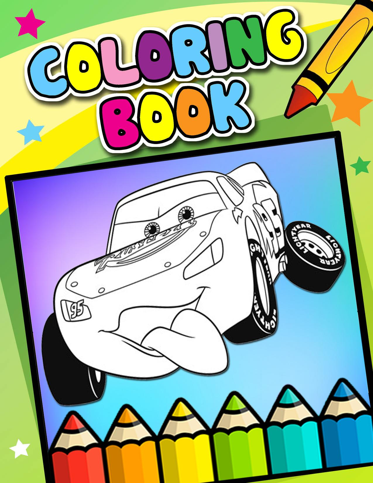 How To Color Lightning McQueen (coloring pages) for Android ...