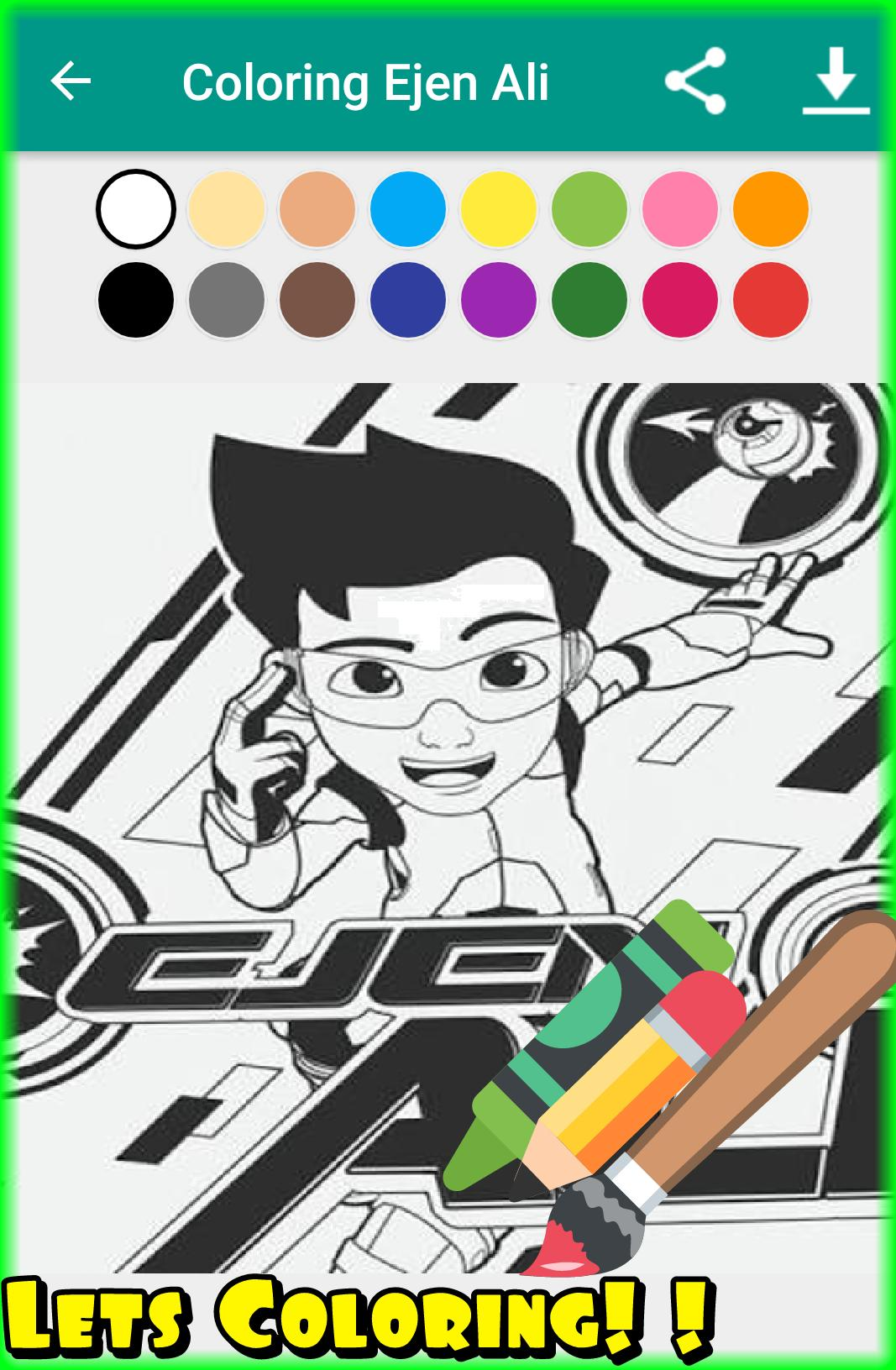 Ejen Ali Coloring Book Games Free Apps For Android APK