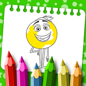 Coloring Pages for Emoji Movie icon