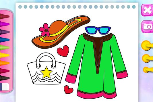 Fashion Coloring Games - Free Coloring pages screenshot 4