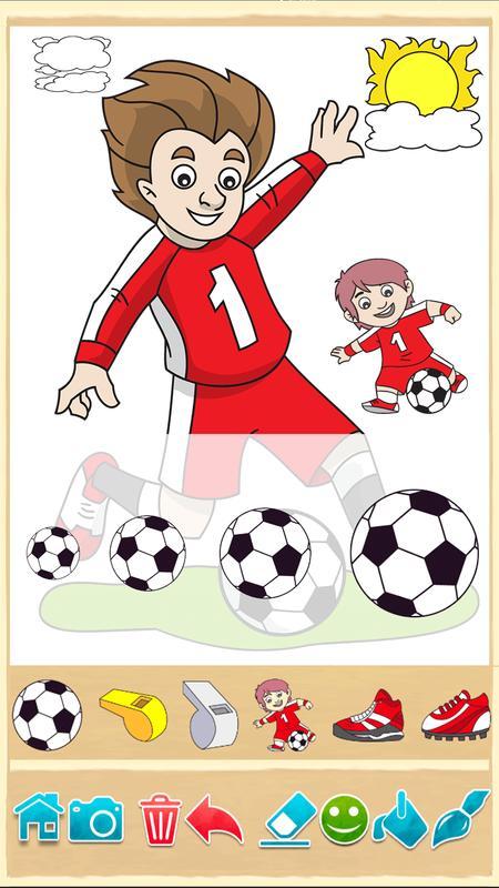 Fútbol juego libro para colorear Descarga APK - Gratis Casual Juego ...
