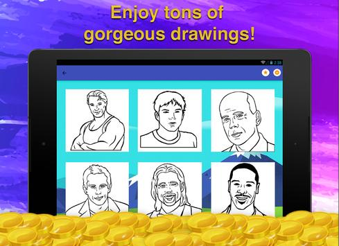 Actor Quiz Coloring Game screenshot 7