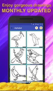 Birds Coloring Game for Kids screenshot 1