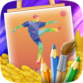 Football Kids Coloring icon