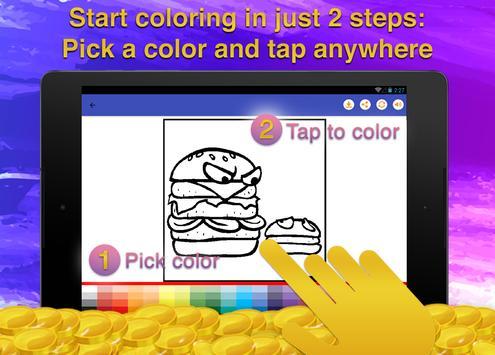 Fast Food Coloring Game screenshot 12