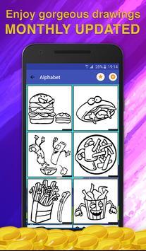 Fast Food Coloring Game screenshot 1