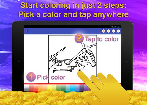 Helicopters Coloring Game screenshot 12