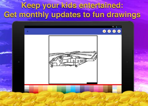 Helicopters Coloring Game screenshot 14
