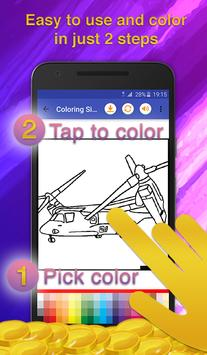Helicopters Coloring Game screenshot 2