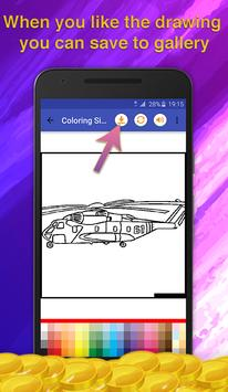 Helicopters Coloring Game screenshot 4
