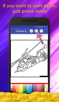Helicopters Coloring Game screenshot 5