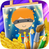Heroes Cartoon Coloring Game icon