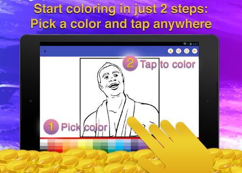 Heroes Cartoon Coloring Game screenshot 9