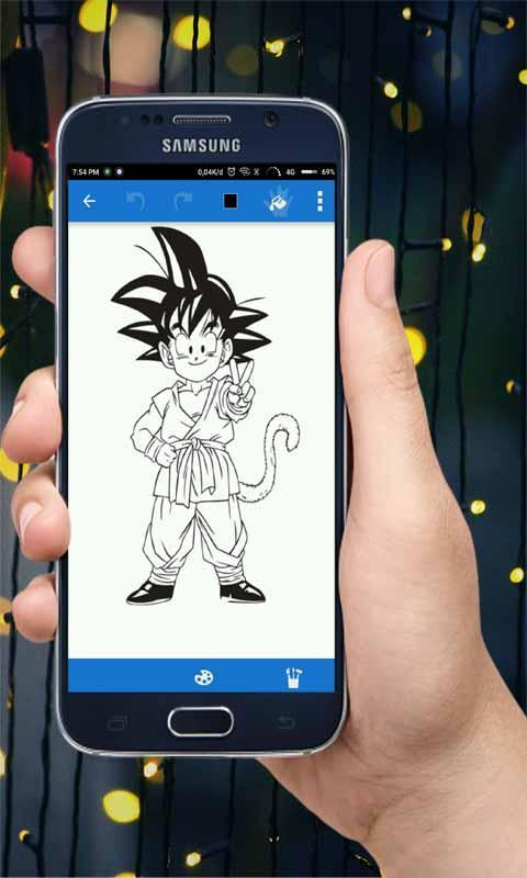 Coloring collection dragon ball for kids poster