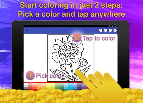 Flowers Coloring for Adults screenshot 13