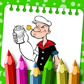 Coloring Pages for Popeye icon