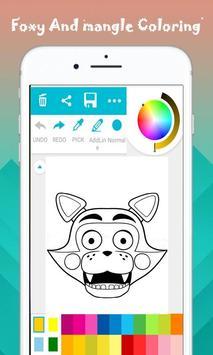 Foxy y mangle para colorear captura de pantalla 1