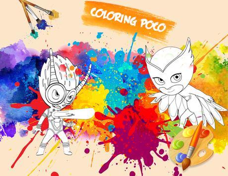 🎨 Coloring Pj With Mask Game apk screenshot
