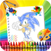 🎨 Coloring Sonic Game Page icon