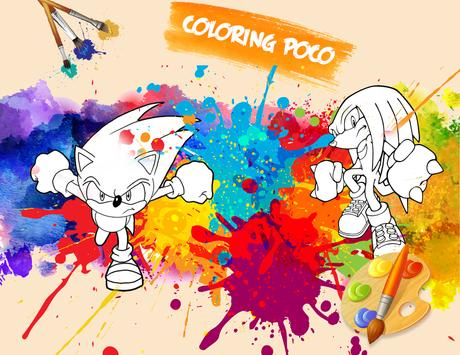 🎨 Coloring Sonic Game Page screenshot 1
